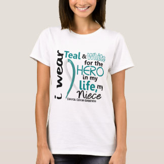 Cervical Cancer For My Hero My Niece 2 T-Shirt