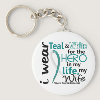 Cervical Cancer For My Hero My Wife 2 Keychain
