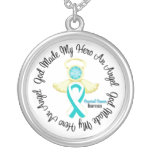 Cervical Cancer God Made My Hero An Angel Round Pendant Necklace