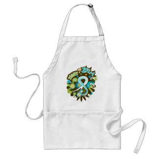 Cervical Cancer Groovy Fight Like A Girl Adult Apron