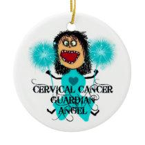 Cervical Cancer Guardian Angel Ceramic Ornament