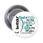 Cervical Cancer Hero In My Life My Mom 2 Pinback Button