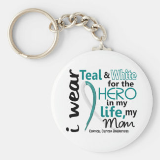 Cervical Cancer Hero In My Life My Mom 2 Key Chain