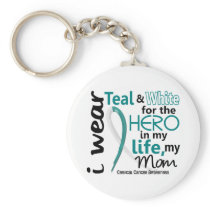 Cervical Cancer Hero In My Life My Mom 2 Keychain