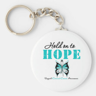 Cervical Cancer Hold On To Hope Key Chains