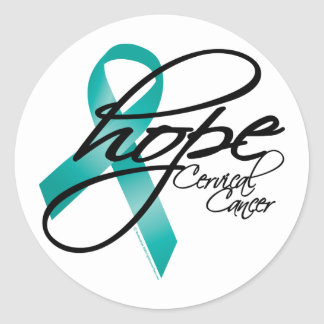 Cervical Cancer Hope 2 Classic Round Sticker