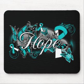 Cervical Cancer Hope Garden Ribbon Mousepads