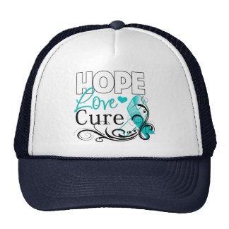 Cervical Cancer Hope Love Cure Mesh Hats