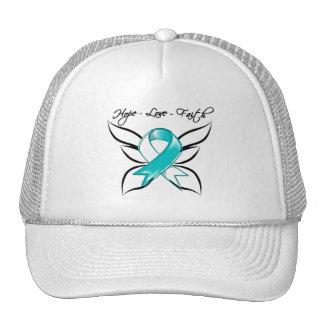Cervical Cancer Hope Love Faith Mesh Hats