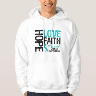 Cervical Cancer Hope Love Faith Hoody