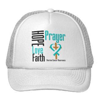 Cervical Cancer Hope Love Faith Prayer Cross Hat