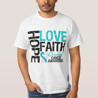 Cervical Cancer Hope Love Faith Tee Shirt