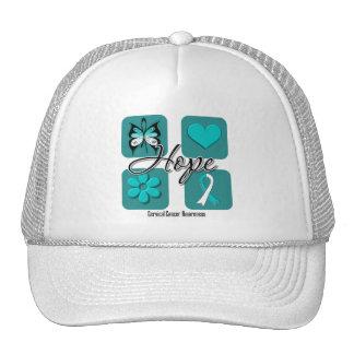 Cervical Cancer Hope Love Inspire Awareness Mesh Hat