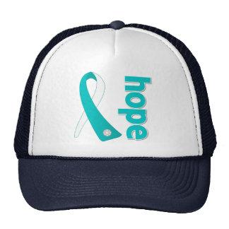 Cervical Cancer Hope Ribbon Hats