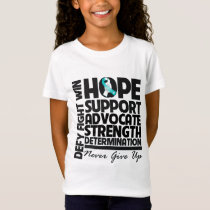 Cervical Cancer Hope Support Advocate T-Shirt