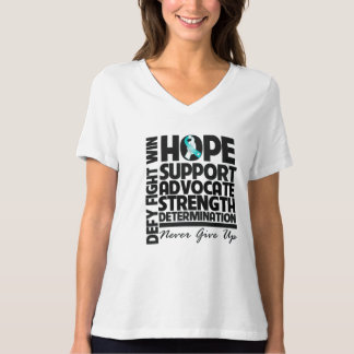 Cervical Cancer Hope Support Advocate T-Shirt