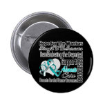 Cervical Cancer Hope Tribute Collage Pinback Button
