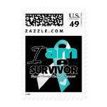 Cervical Cancer - I am a Survivor Stamp