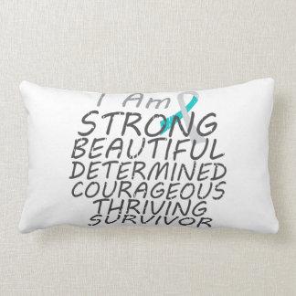 Cervical Cancer I Am Strong Survivor Throw Pillow