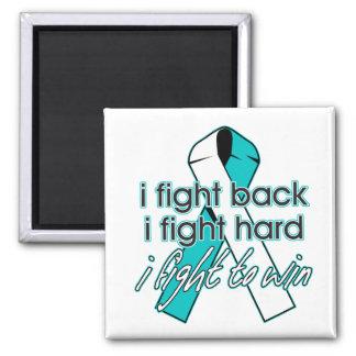 Cervical Cancer I Fight Back 2 Inch Square Magnet