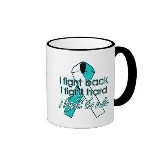 Cervical Cancer I Fight Back Ringer Coffee Mug