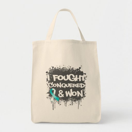 Cervical Cancer I Fought Conquered Won Tote Bag