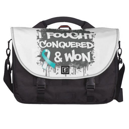 Cervical Cancer I Fought Conquered Won Laptop Computer Bag