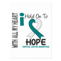 Cervical Cancer I Hold On To Hope Postcard