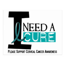 Cervical Cancer I NEED A CURE 1 Postcard