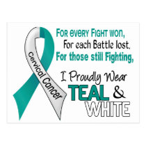 Cervical Cancer I Proudly Wear Teal and White 1 Postcard