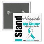 Cervical Cancer I Stand Alongside My Sister Button
