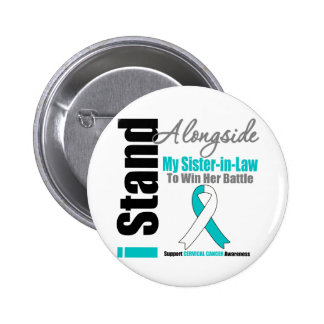 Cervical Cancer I Stand Alongside My Sister-in-Law Button