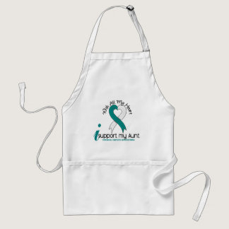 Cervical Cancer I Support My Aunt Adult Apron