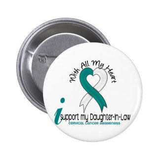 Cervical Cancer I Support My Daughter-In-Law Button