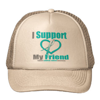Cervical Cancer I Support My Friend Trucker Hats
