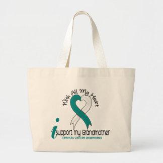 Cervical Cancer I Support My Grandmother Large Tote Bag