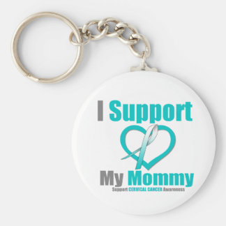 Cervical Cancer I Support My Mommy Key Chains