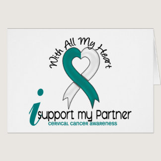 Cervical Cancer I Support My Partner Card