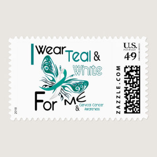 CERVICAL CANCER I Wear Teal and White For ME 45 Postage