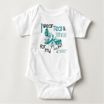 CERVICAL CANCER I Wear Teal and White For My Aunt Baby Bodysuit