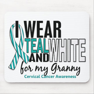 CERVICAL CANCER I Wear Teal & White For My Granny Mouse Pad