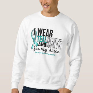 CERVICAL CANCER I Wear Teal & White For My Niece 1 Sweatshirt