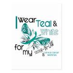 CERVICAL CANCER I Wear Teal White Sister-In-Law Postcards