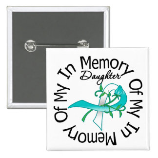 Cervical Cancer In Memory of My Daughter Button