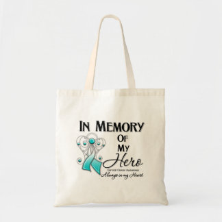 Cervical Cancer In Memory of My Hero Tote Bags