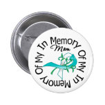 Cervical Cancer In Memory of My Mom Button