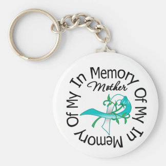 Cervical Cancer In Memory of My Mother Basic Round Button Keychain