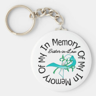 Cervical Cancer In Memory of My Sister-in-Law Basic Round Button Keychain