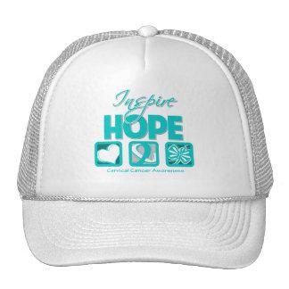 Cervical Cancer Inspire Hope Trucker Hat