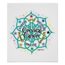 Cervical Cancer Lotus Poster